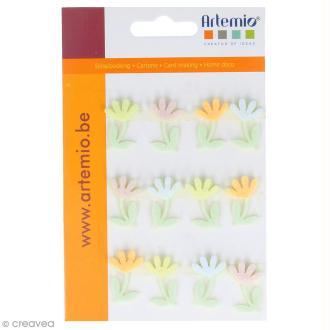 Forme en feutrine Décoration - Fleurs de printemps - 12 pcs
