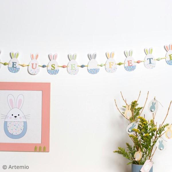 Kit bannière en papier à fabriquer - Lapin et oeuf de Pâques - Photo n°2