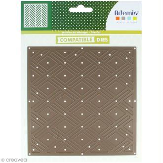 Die Artemio Fond losanges - 15 x 15 cm - 1 matrice de découpe