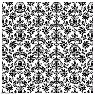 Tampon Bois Artemio - Tapisserie florale - 10 x 10 cm