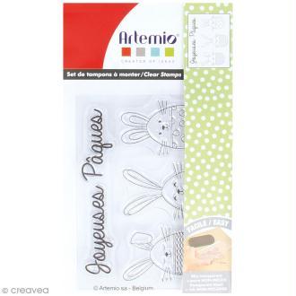 Tampon clear Artemio - Joyeuses pâques - 4 pcs
