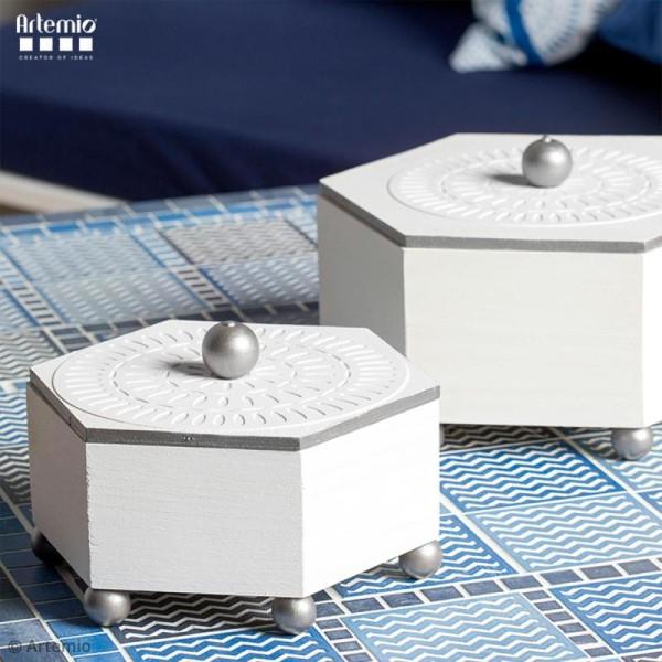 Papier Scrapbooking Artemio - Blue ethnic - 30,5 x 30,5 cm - 40 pcs - Photo n°3