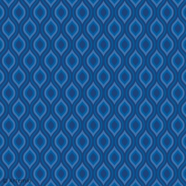 Papier Scrapbooking Artemio - Blue ethnic - 30,5 x 30,5 cm - 40 pcs - Photo n°6