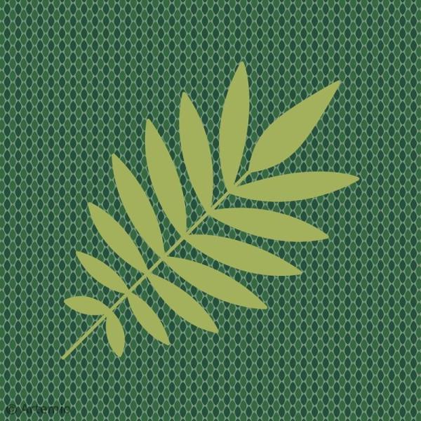 Papier Scrapbooking Artemio - Deep green - 30,5 x 30,5 cm - 40 pcs - Photo n°5
