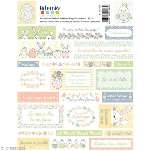 Stickers Artemio textes - Pâques - 1 planche 15,5 x 16 cm - Photo n°2