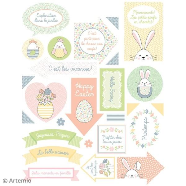 Stickers Artemio textes - Pâques - 1 planche 15,5 x 16 cm - Photo n°4
