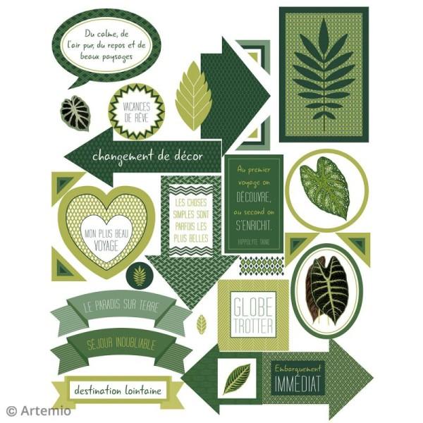 Stickers Artemio textes - Deep green - 1 planche 15,5 x 16 cm - Photo n°3