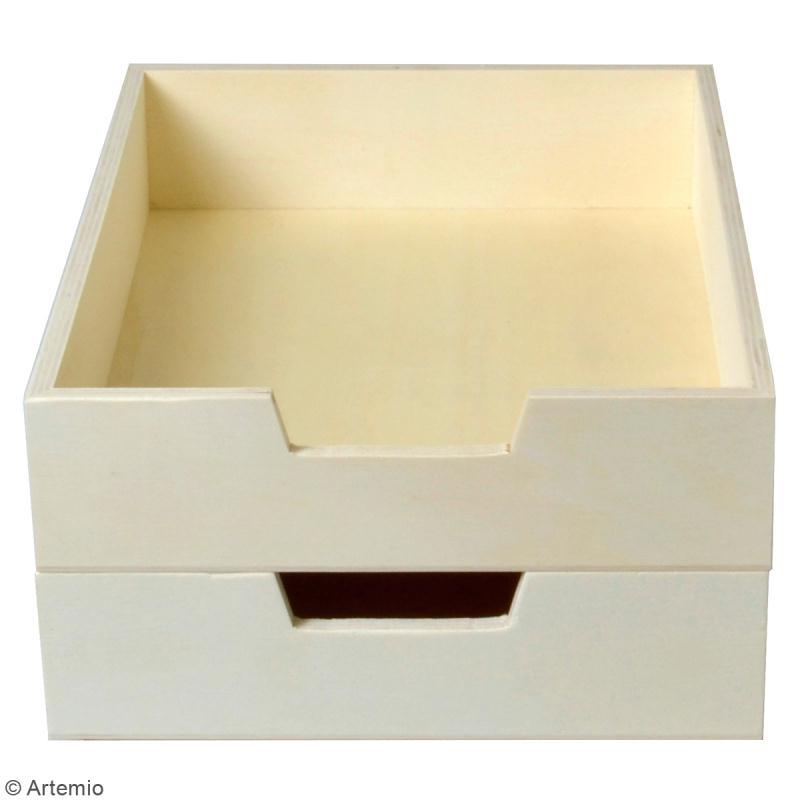 Bac à courrier en bois à décorer - 21 x 30 cm - 2 pcs - Photo n°2