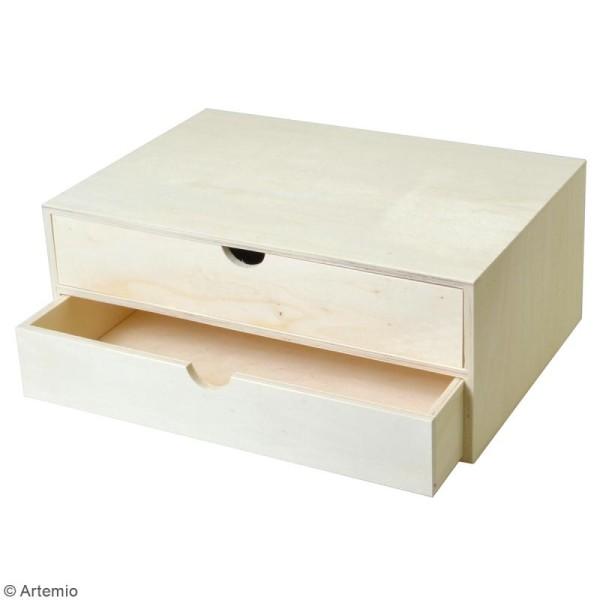 Rangement en bois à décorer - 35 x 24 x 14 cm - Photo n°2