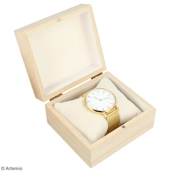 Boîte à montre en bois à décorer - 10 x 9 cm - Photo n°2