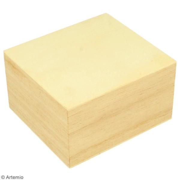 Boîte à montre en bois à décorer - 10 x 9 cm - Photo n°3