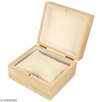 Boîte à montre en bois à décorer - 10 x 9 cm