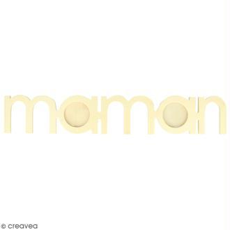Cadre à décorer - Maman - 37 x 6,5 cm