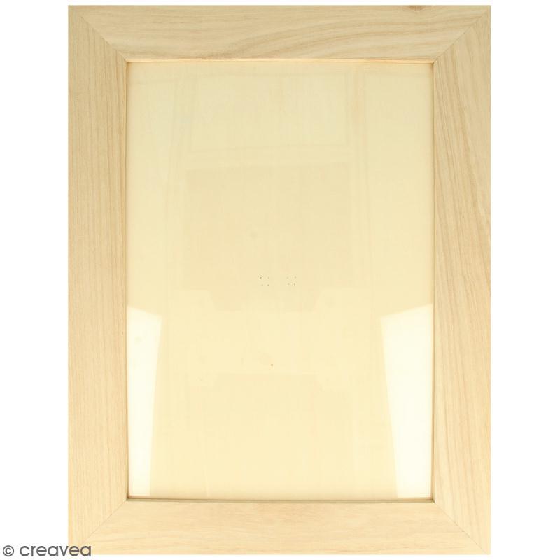 cadre photo en bois d corer 28 x 36 cm cadre photo d corer creavea. Black Bedroom Furniture Sets. Home Design Ideas