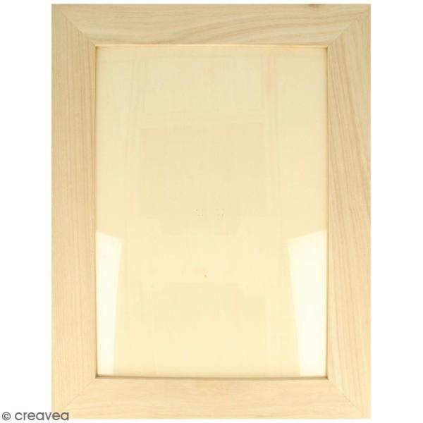 Cadre photo en bois à décorer - 28 x 36 cm - Photo n°1