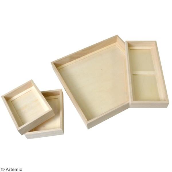 Set Cadres photos profonds en bois à décorer - 4 pcs - Photo n°2