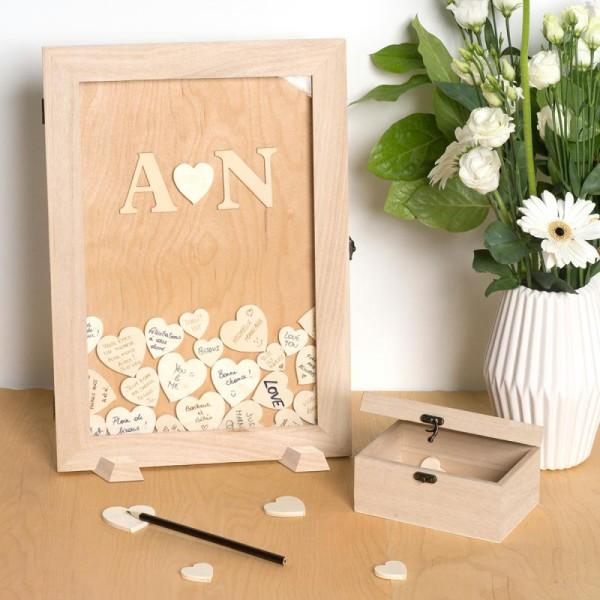 Livre d'or en bois à décorer - 42 x 29,7 x 2,3 cm - Photo n°3
