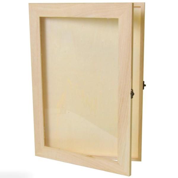 Livre d'or en bois à décorer - 42 x 29,7 x 2,3 cm - Photo n°1