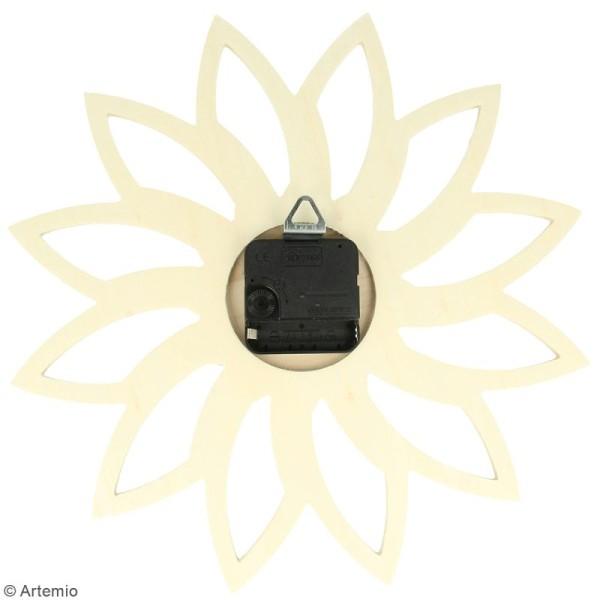 Horloge en bois à décorer ronde - Soleil - 30 cm - Photo n°2