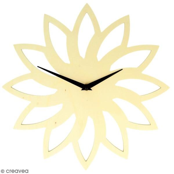 Horloge en bois à décorer ronde - Soleil - 30 cm - Photo n°1