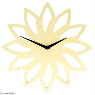 Horloge en bois à décorer ronde - Soleil - 30 cm