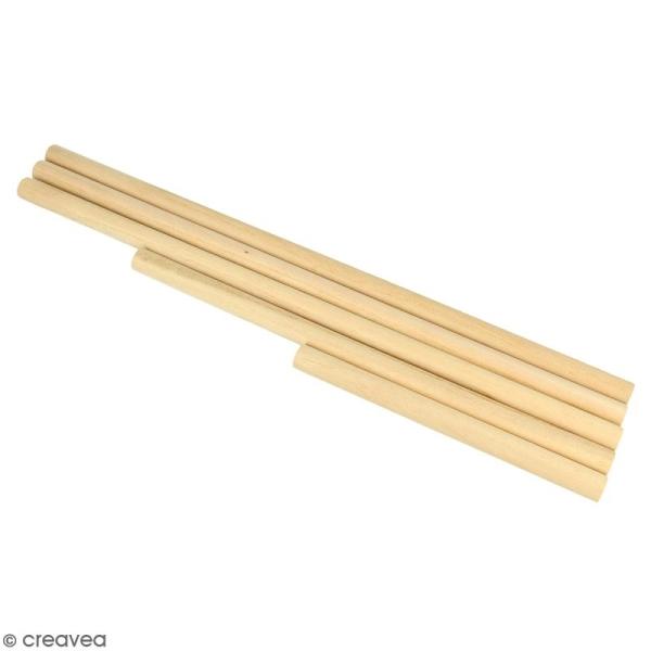 Baguettes en bois pour suspension - 5 pcs - Photo n°1