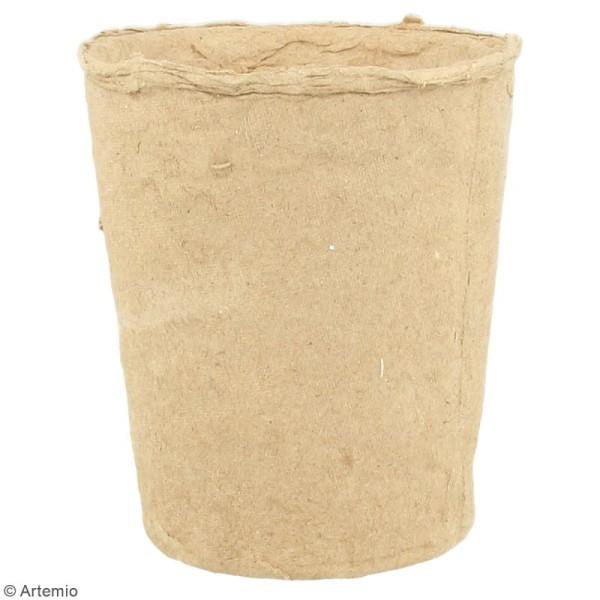 Pot papier mâché avec mousse polystyrène - 8,5 x 9 cm - Photo n°3