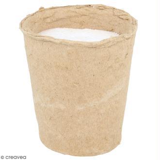 Pot papier mâché avec mousse polystyrène - 8,5 x 9 cm