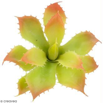 Plante artificielle - Echeveria à pics - Plastique - 12,5 x 7 cm