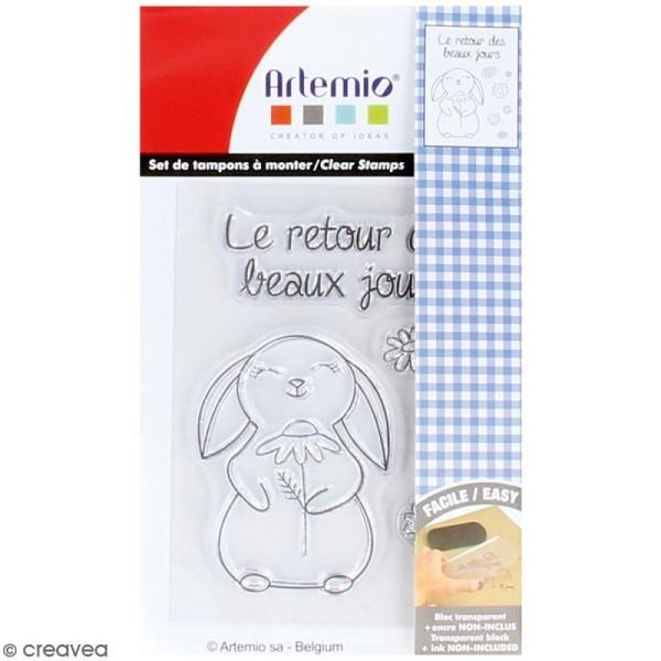 Tampon clear Artemio - Retour des beaux jours - 8 pcs - Photo n°1