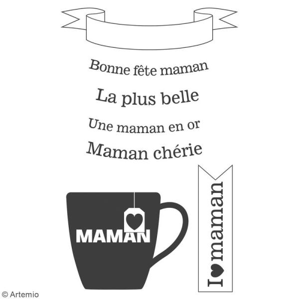 Tampon clear Artemio - Bonne fête Maman - 7 pcs - Photo n°2