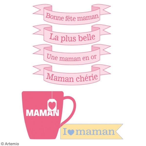 Tampon clear Artemio - Bonne fête Maman - 7 pcs - Photo n°3