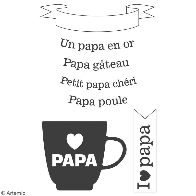 Tampon clear Artemio - Papa en or - 7 pcs - Photo n°2