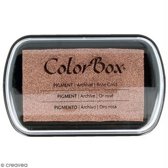 Encreur Colorbox - Métal rose - 7,5 x 4,5 cm