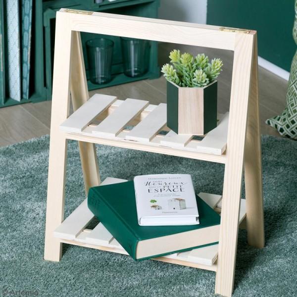 Etagère à plantes en bois à décorer - 2 niveaux - 25 x 41 x 51 cm - Photo n°2