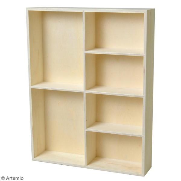 Etagère à cases - 6 compartiments - 31 x 40 x 7 cm - Photo n°2