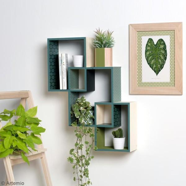Set 3 étagères rectangulaires imbriquées à décorer - 45 x 60 cm - Photo n°2