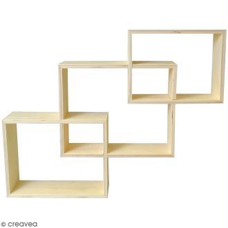 Set 3 étagères rectangulaires imbriquées à décorer - 45 x 60 cm