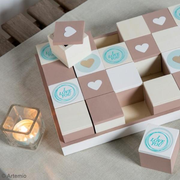 Set plateau et 24 boîtes en bois à décorer - 31 x 21 cm - Photo n°2