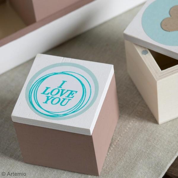 Set plateau et 24 boîtes en bois à décorer - 31 x 21 cm - Photo n°4