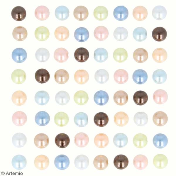 Demi-perles adhésives Adorable - Multicolore - 64 pcs - Photo n°3