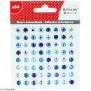 Strass autocollants - Bleu - 64 pcs - Photo n°1