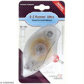 Dérouleur adhésif double-face E-Z Runner rechargeable - Bande ultra adhésive - 13 m