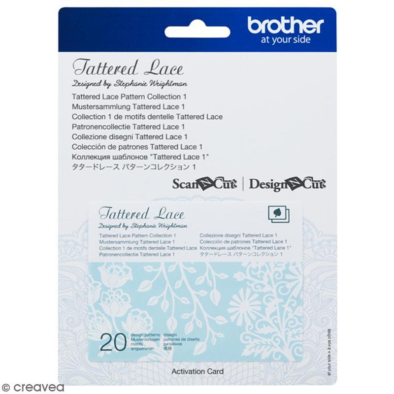 Accessoire Scan'n'Cut Canvas - Carte Tattered lace 1 - 20 motifs - Photo n°1