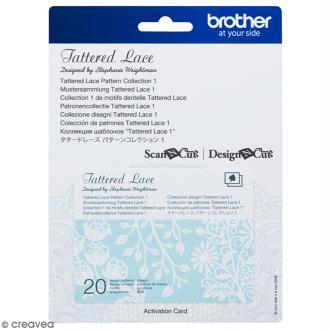 Accessoire Scan'n'Cut Canvas - Carte Tattered lace 1 - 20 motifs
