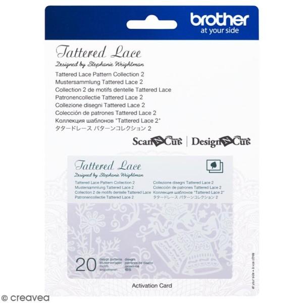Accessoire Scan'n'Cut Canvas - Carte Tattered lace 2 - 20 motifs - Photo n°1