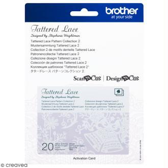 Accessoire Scan'n'Cut Canvas - Carte Tattered lace 2 - 20 motifs