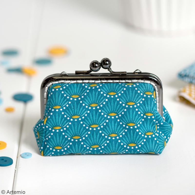 Fermoir porte-monnaie Crafty cotton - Noir - 10 cm - Photo n°4