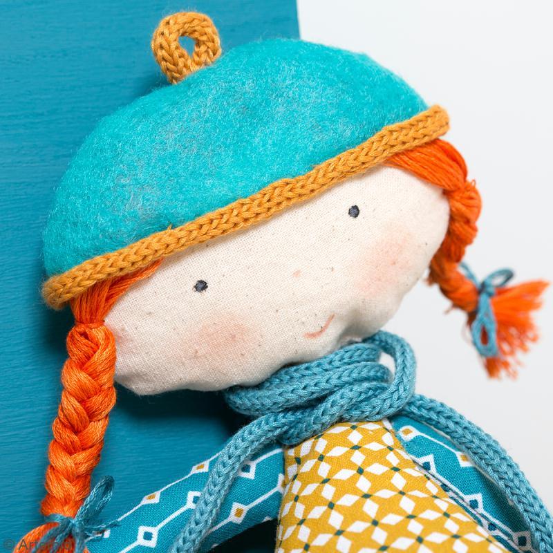 Fil de tricotin Crafty cotton - Bleu sarcelle - 5 mm x 5 m - Photo n°2