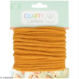 Fil de tricotin Crafty cotton - Ocre - 5 mm x 5 m